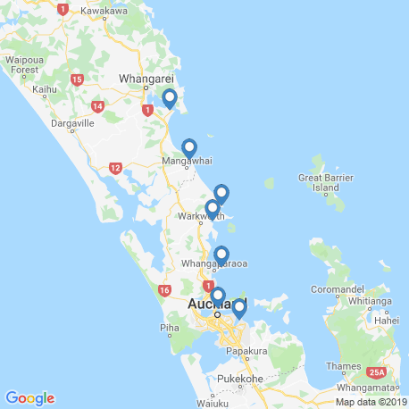 map of fishing charters in Ti Point