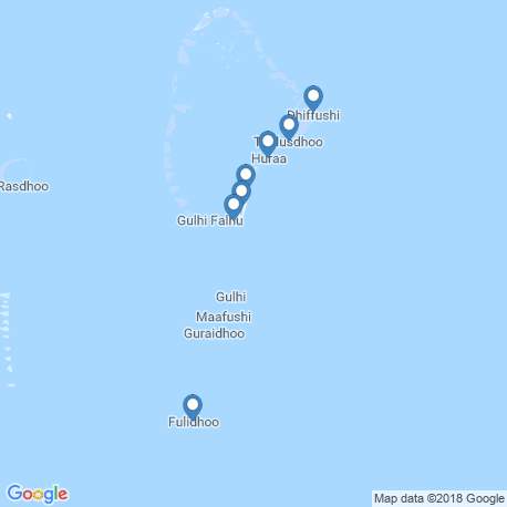map of fishing charters in Hulhumale