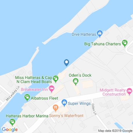 Карта рыбалки – Хаттерас-Айленд