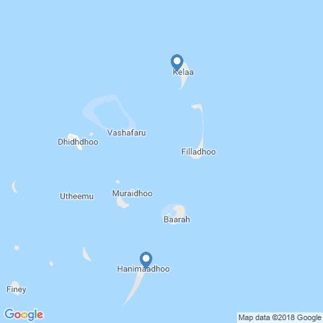 map of fishing charters in Hanimaadhoo