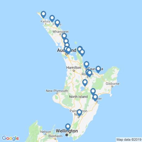 Карта рыбалки – Северный остров