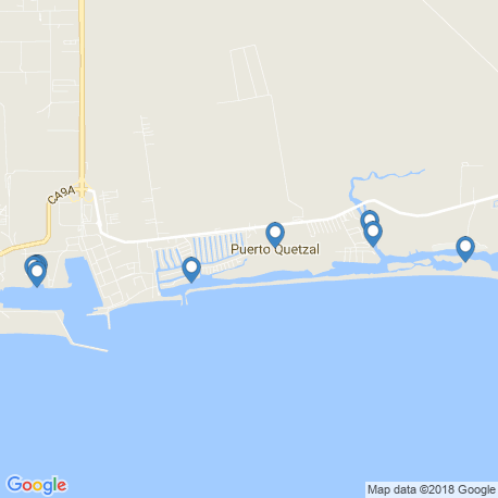 map of fishing charters in Гватемала