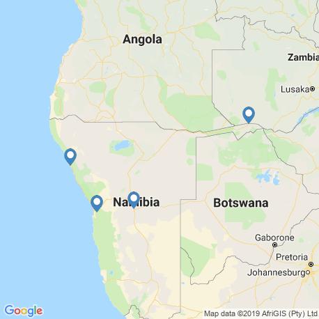 Karte der Angebote in Namibia