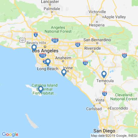 Карта рыбалки – Лос-Анджелес