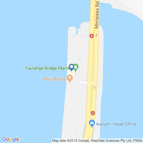 map of fishing charters in Mt Maunganui