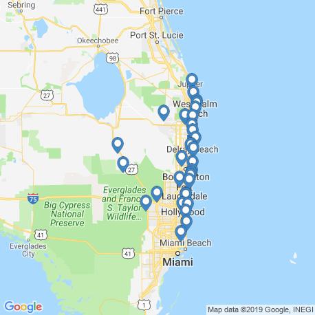 map of fishing charters in Boca Raton