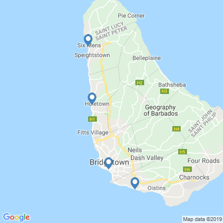 Карта рыбалки – Бриджтаун