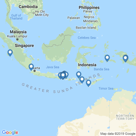 map of fishing charters in Indonesia