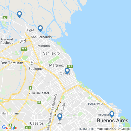 map of fishing charters in Buenos Aires