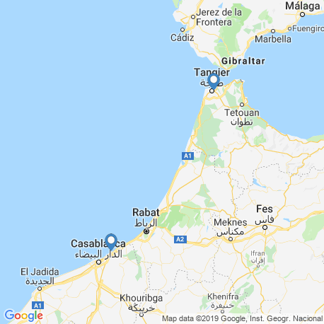 map of fishing charters in Morocco