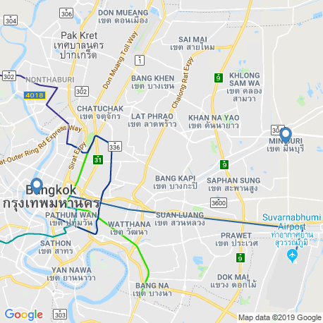 map of fishing charters in Bangkok
