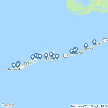 map of fishing charters in Ramrod Key