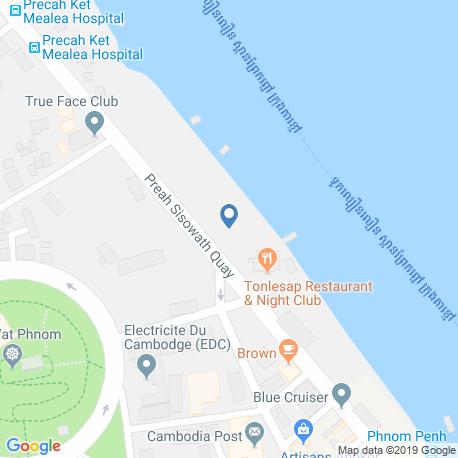 Карта рыбалки – Камбоджа