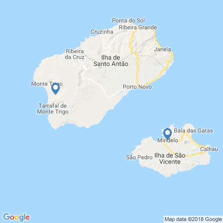 map of fishing charters in Mindelo