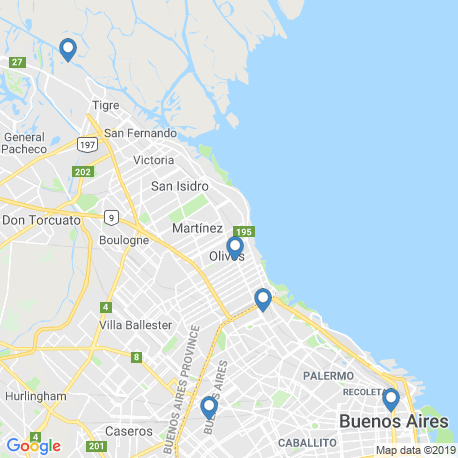 Карта рыбалки – Буэнос-Айрес