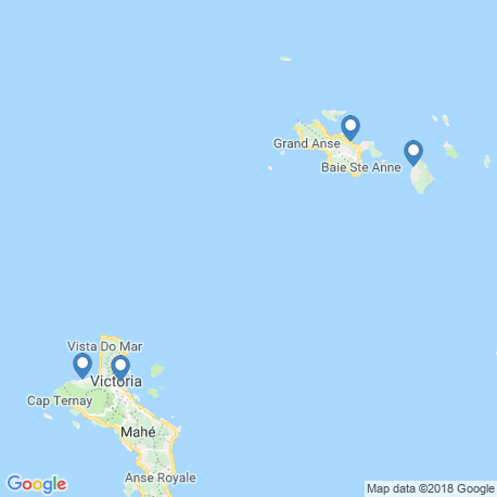 map of fishing charters in Praslin