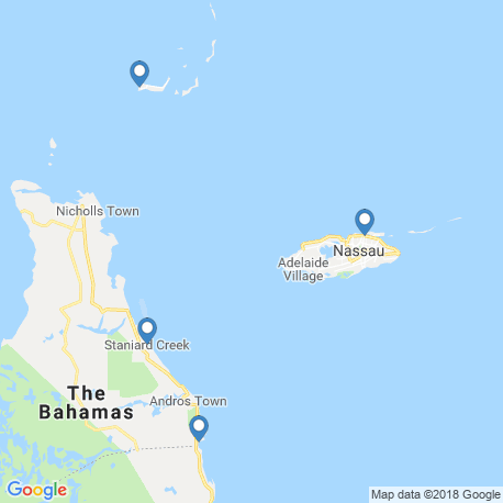 map of fishing charters in Nassau
