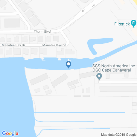 map of fishing charters in Banana River