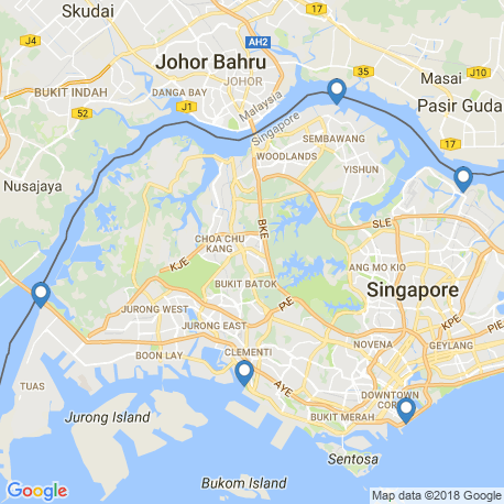 map of fishing charters in Singapore