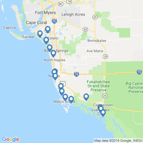 map of fishing charters in Goodland