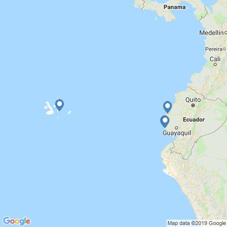 map of fishing charters in Ecuador