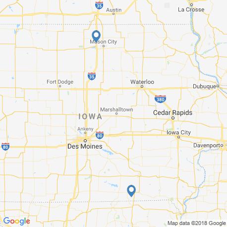 map of fishing charters in Iowa