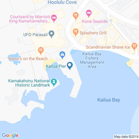 map of fishing charters in Kailua-Kona