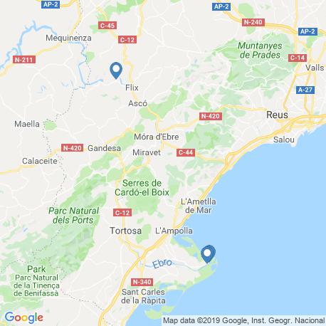 Карта рыбалки – Каталония