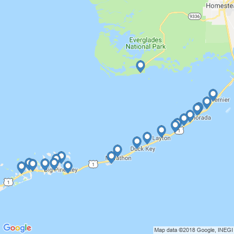 map of fishing charters in Marathon