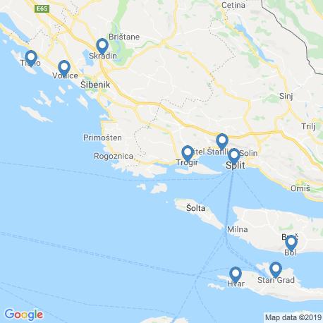 Карта рыбалки – Трогир