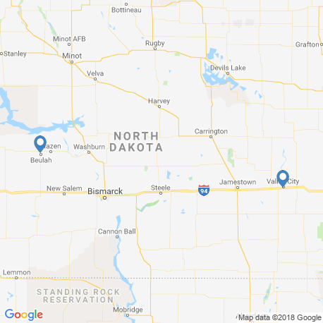 map of fishing charters in North Dakota