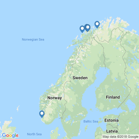 map of fishing charters in Norway