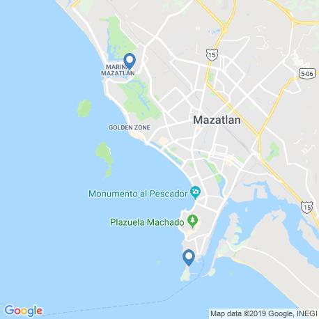 map of fishing charters in Mazatlán