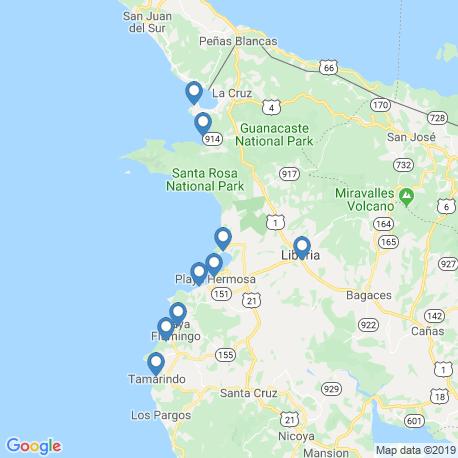 Karte der Angebote in Playa Ocotal