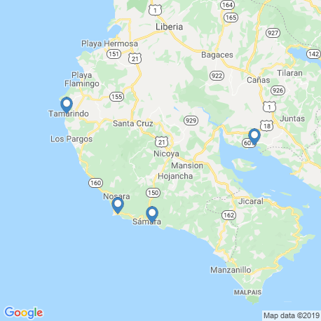 map of fishing charters in Sámara