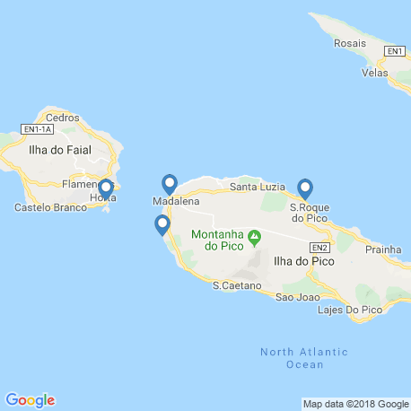 map of fishing charters in Madalena