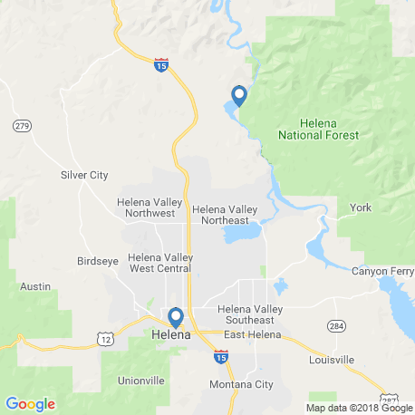 map of fishing charters in Helena