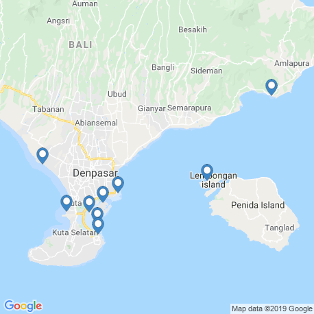 map of fishing charters in Seminyak
