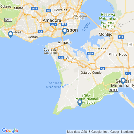 map of fishing charters in Sesimbra