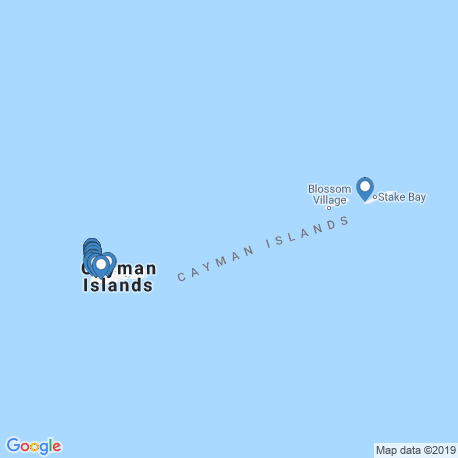 map of fishing charters in Cayman Islands