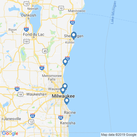 map of fishing charters in Port Washington