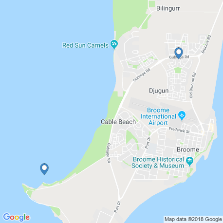 map of fishing charters in Broome