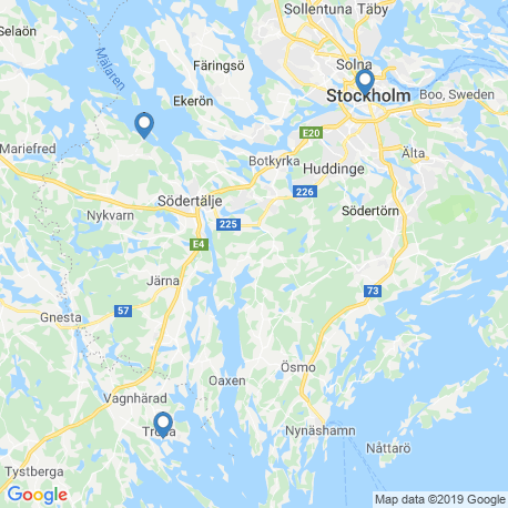 map of fishing charters in Trosa