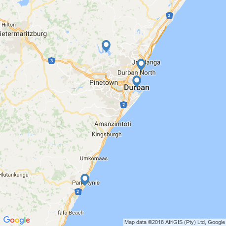 map of fishing charters in Durban