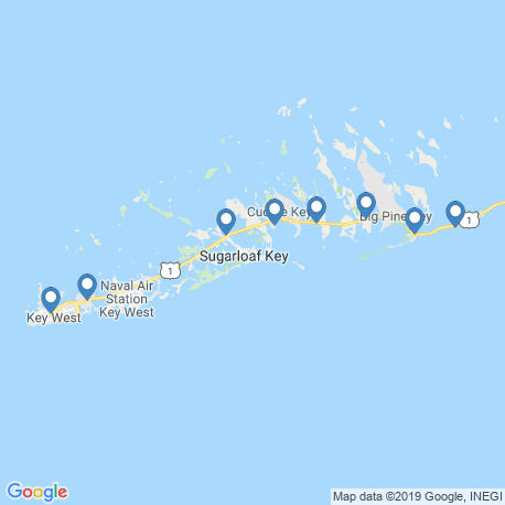 map of fishing charters in Key West