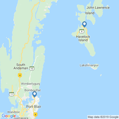 map of fishing charters in Andaman
