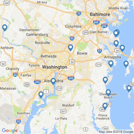 map of fishing charters in Alexandria