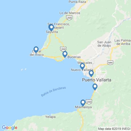 map of fishing charters in Cruz De Huanacaxtle
