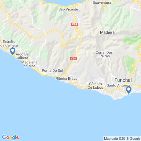 map of fishing charters in Funchal