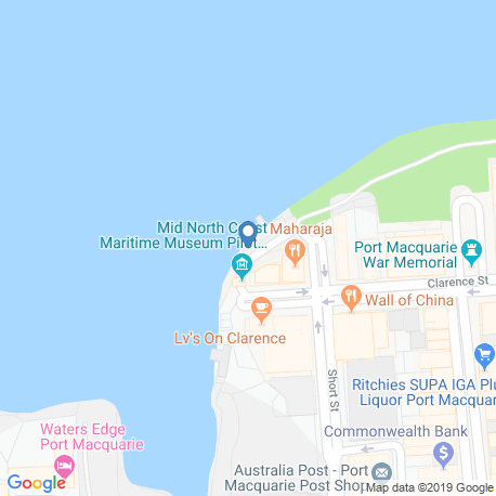 map of fishing charters in Port Macquarie